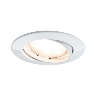 EBL Set Coin sat rund schwb LED 3x6, 8W 2700K 230V 51mm Weiß m/Alu Zink