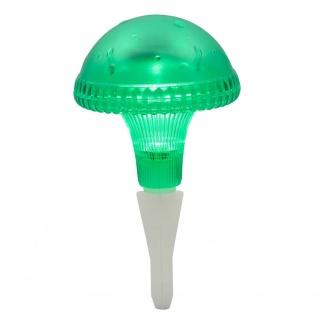 Assisi Pilz Solar LED Leuchte Grün Solar Gartenlampe Gartenleuchte - Vorschau 2
