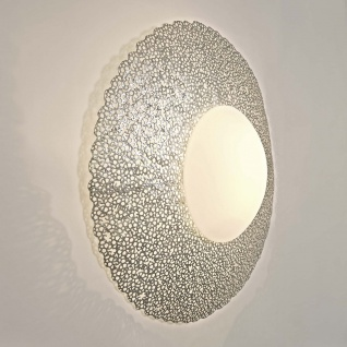 Holländer 300 K 13185 S Wandleuchte 2-flammig Utopistico Grande Eisen-Glas Silber - Vorschau 2