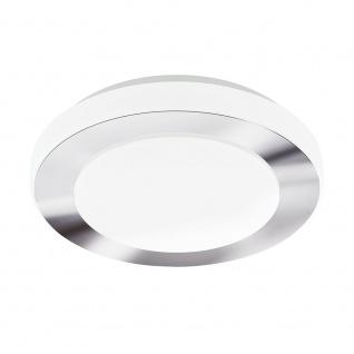 Eglo 95282 LED Carpi Deckenleuchte Ø 30cm 1100lm Weiß Chrom