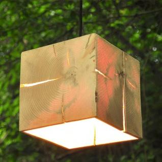 Almleuchten H1 kubische Hängeleuchte 18 x 18cm aus Altholz Hängelampe aus Holz - Vorschau 5