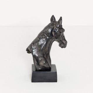 Holländer 320 3502 Pferdekopf Purosangue Aluminium Antik-Schwarz - Vorschau 3