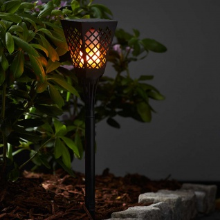 Premium LED Solar-Fackel imitiert Feuer 79cm Solar Gartenlampe Gartenleuchte