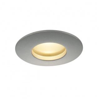 SLV OUT 65 LED DL Round Set Downlight Silbergrau 9W 38° 3000K inkl. Treiber 114464