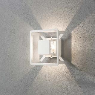 Konstsmide 7989-250 Pescara LED Aussen-Wandleuchte / Weiß, klares Glas