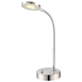 Globo 24122 Deniz Tischleuchte Nickel-Matt Chrom LED