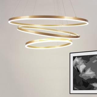 s.LUCE Ring Limited LED-Ringe mit Ø 60 80 100cm in Goldfarben LED-Ring