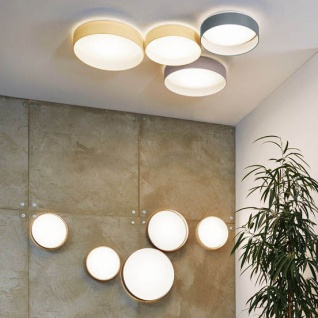 Licht-Trend Palo LED-Decken- oder Wandleuchte Ø 32 cm mit Textilschirm Creme
