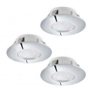 Eglo 95822 Pineda LED Einbaustrahler 3er-Set 3 x 500lm Chrom