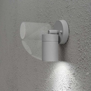 Konstsmide 7598-300 Modena Energiespar Wandspot schwenkbar Grau klares Glas