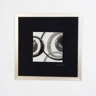 Holländer 306 3167 Wandbild Radiografa Holz-Leinwand-Glas Schwarz-Silber-Grau