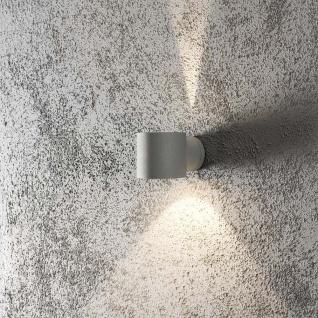 Konstsmide 7342-300 Modena Square Aussen-Wandleuchte Grau klares Glas
