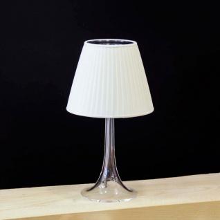 FLOS Miss K Soft Tischleuchte mit Dimmer Textil-Creme Designer Tischlampe