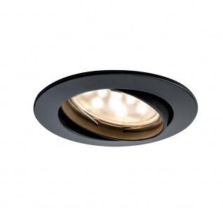 Paulmann Premium EBL Set Coin klar rund schwenkbar LED 3x6, 8W 2700K 230V 51mm Schw. m. Alu Zink