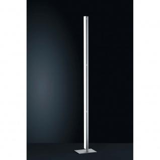 Helestra LED Stehleuchte Venta 170cm Nickel-Matt Chrom