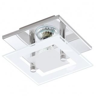 Eglo 94224 Almana LED Wand & Deckenleuchte 1 x 3 W Stahl Chrom Glas satiniert Weiß klar