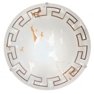 Eglo 86873 Twister Wand- & Deckenleuchte 2-flammig Ø 39, 5cm Motiv Antik Weiß