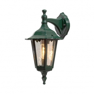 Konstsmide 7231-600 Firenze Aussen-Wandleuchte Grün klares Glas