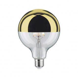 Paulmann LED Globe 125 5W E27 Kopfspiegel Gold 2700K dimmbar 28548