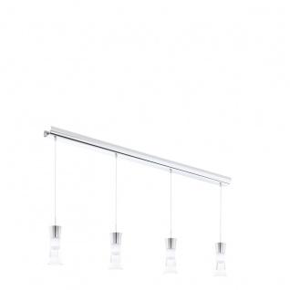 Eglo 94358 Pancento LED Hängeleuchte 4 x 5 W Stahl Chrom Kunststoff klar satiniert