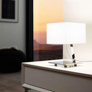 Eglo 95766 Nambia 1 LED Tischleuchte 480lm Chrom Weiß