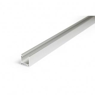 Aufbauprofil tief 200cm Alu-eloxiert ohne Abdeckung für LED-Strips