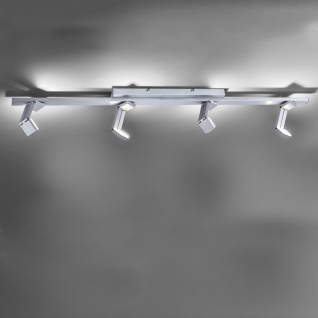 Licht-Trend Convert 4 moderner LED Deckenbalken mit Dimmer Alu-Gebürstet Deckenleuchte