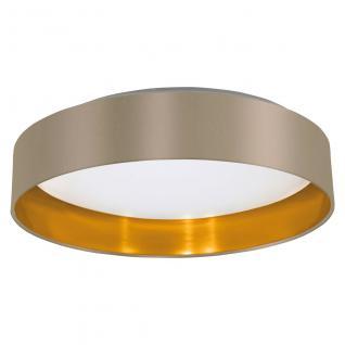 Eglo 31624 Maserlo / LED Deckenleuchte / Kunststoff Stahl Weiss Textil Taupe Gold