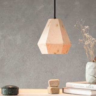 Almleuchten H3 hexagonale Hängeleuchte aus Altholz Braun moderne Holzlampe