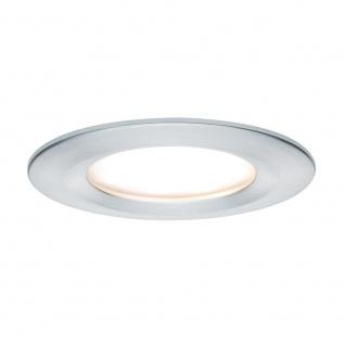 Paulmann 3er LED Einbauleuchten-Set Coin Slim IP44 rund 6, 8W Alu dimmbar 93901