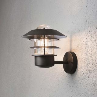 Konstsmide 7303-750 Modena Aussen-Wandleuchte Schwarz klares Glas