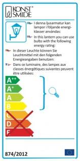 Konstsmide 7272-302 Barletta Energiespar Sockelleuchte Grau Acrylglas - Vorschau 4