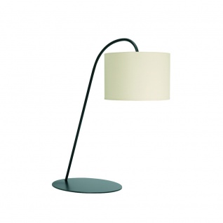 Licht-Trend Tischleuchte Alic mit Stoffschirm Creme Tischlampe