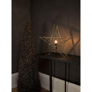 Konstsmide 3552-800 Messingfarbener Metallstern, inkl. Anschlusskabel mit an/aus Schalter, ohne Leuchtmittel, E14 Lampenhalterung für Innenbereich