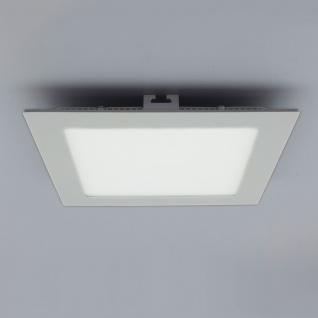 Licht-Design 30555 Einbau LED-Panel 960lm Dimmbar 17x17cm Warm Silber