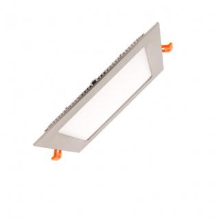 Einbau LED-Panel 960lm 17x17cm Warm Alu-Gebürstet