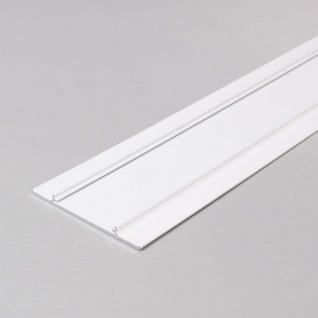 Seitliche Abdeckung 200cm Weiß für Aufbau-Wandprofil schräg