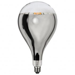 E27 LED Retro-Tropfen Kopfspiegel Silber 400lm Warmweiß dimmbar - Vorschau 2