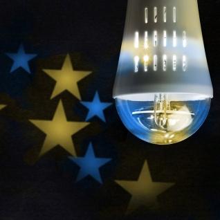 """Wofi E27 Deko LED Leuchtmittel """" Sterne"""" 3 W Blau Gelb 9746"""