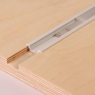 2m Einbau-Aluprofil-Erweiterungsset für LED-Strips / Abdeckung matt / Alu Weiss lackiert