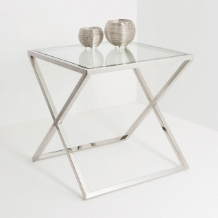 Holländer 209 2508 Tisch Stellare Edelstahl-Glas Silber-Klar