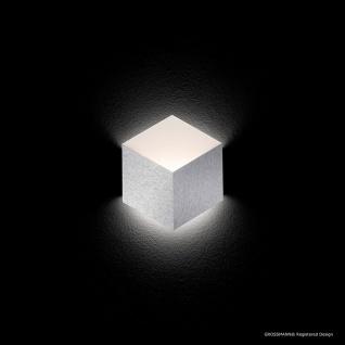 Grossmann 52-779-072 Geo LED-Wandleuchte 1-flammig 27 x 30cm Alu-matt