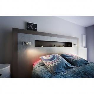 SLV Bedside Links Wandleuchte silbergrau 3W LED 3000K mit blauem Orientierungslicht 146242 - Vorschau 2