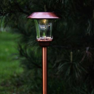 Premium LED Solarleuchte in Kupfer 48cm Solar Gartenlampe Gartenleuchte