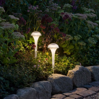 2er-Set RGBW LED Solarleuchten Assisi Solar Gartenlampe Gartenleuchte