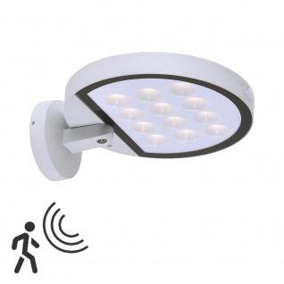 Solar LED Sensor-Außenwandleuchte Markus IP44 Weiß Gartenlampe Gartenleuchte