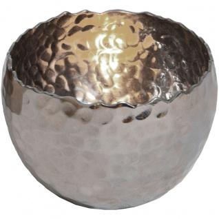 Holländer 257 3517 Windlicht Profilio Rund Klein Aluminium Vernickelt Silber