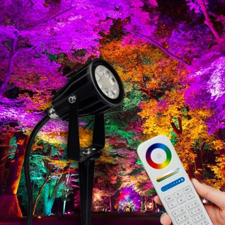 s.LUCE iLight LED-Gartenstrahler 6W RGB + CCT LED-Lampe Farbwechsel & Dual White - Vorschau 1