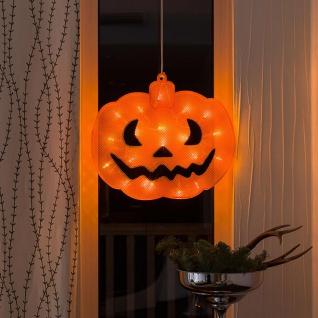 LED Fensterbild Kürbis für Halloween