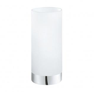 Eglo 95776 Damasco 1 Tischlampe Chrom Weiß